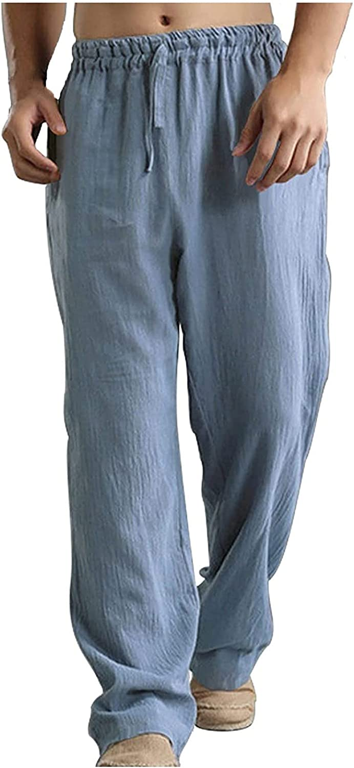 2021 Autumn Men's Trousers Max 64% OFF All items in the store Washed Breathable Loose Cotton Linen