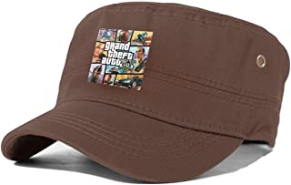GTA-V-Grand-Theft-Auto-5 Classic Curved Hat, Adult Flat Cap, Dad Hat, Cool and Stylish Adjustable Cap for Men