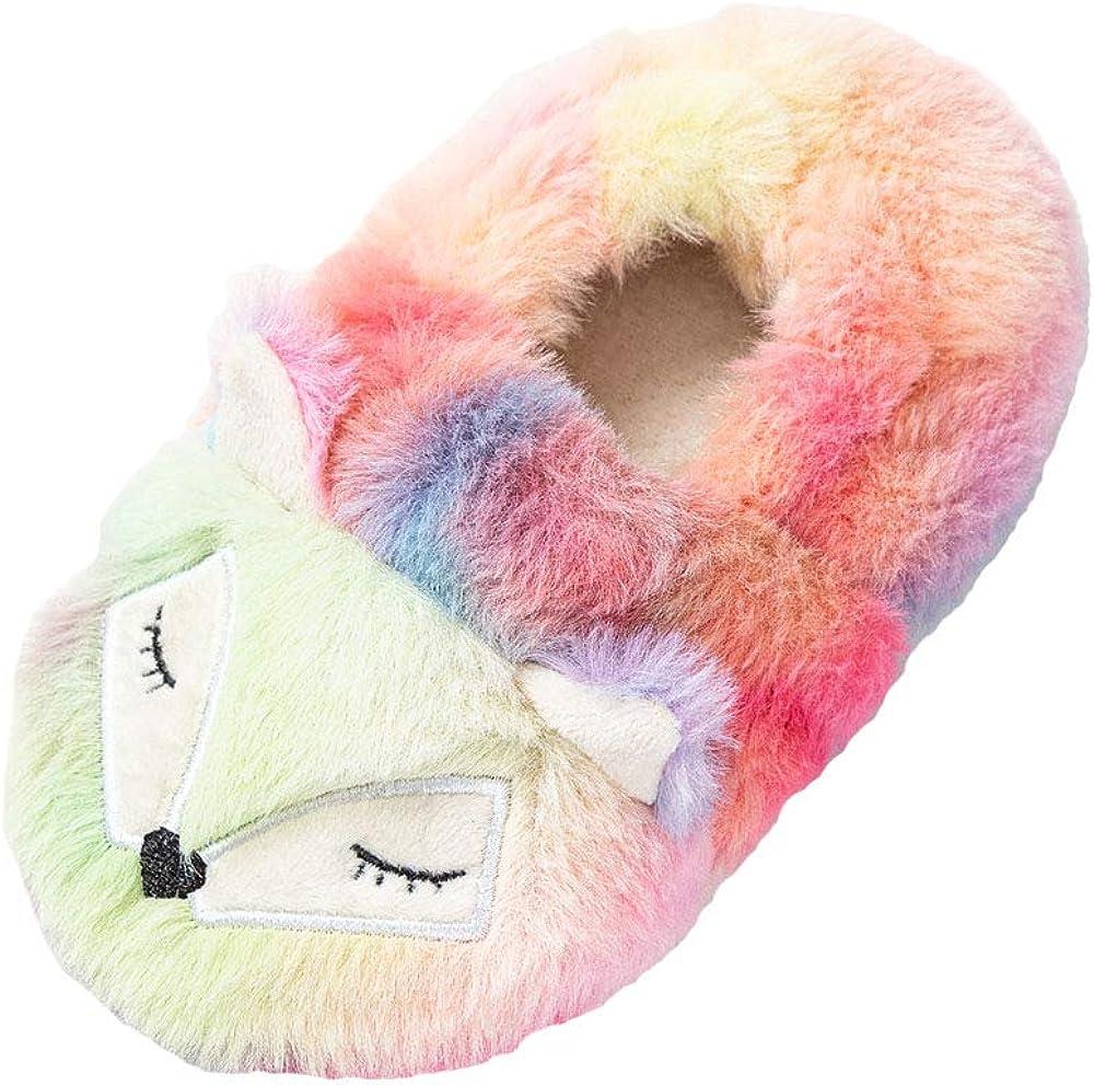 AyFUN Boys Girls Warm Slippers Cartoon Indoor Winter Househ Award-winning store famous Kids