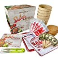 Indoor Salsa Garden Seed Starter Growing Kit - USDA Organic Non GMO Gardening Gifts