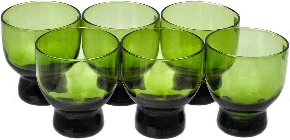 Kansas City Mall Japanese Cold Glass Green Sake Cup Cups of 6 Max 89% OFF 2-Ounces Set
