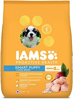 IAMS Proactive Health Smart Puppy Large Breed Dogs (<2 Years) Dry Dog Food, 3 kg