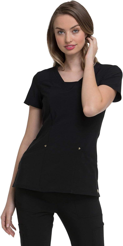 HeartSoul Love Always HS665 Women's V-Neck Solid Scrub Top