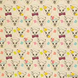 Loopomio Jersey Stoffe Disney Bambi naturweiß 0,50m x VB