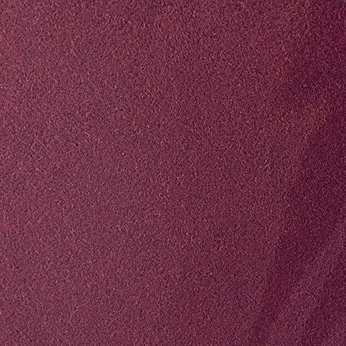 #5 Etérea Teddy Flausch Kinder-Spannbettlaken, Spannbetttuch, Bettlaken, 18 Farben, 60×120 cm – 70×140 cm, Bordeaux - 3