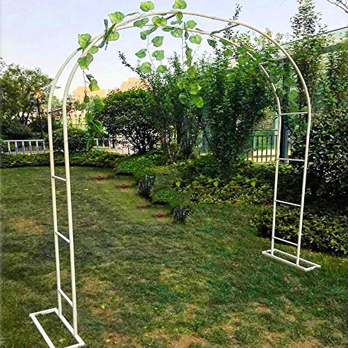NWHJ Climbing Plants Arch Metal Pergola Arbor, Iron Frame Garden Arch Flower Stand Trellis Decoration Archway Indoor outdoor, free standing, Multi-size