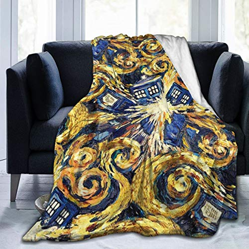 Tree New Doctor Who Exploding Tardis Fleece Blanket Soft Micro Microfiber Light Weight Warm Throw Blanket 3 Size