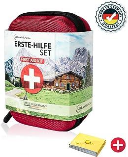 URBAN MEDICAL Botiquín de Primeros Auxilios Premium de Alemania DIN 13167 l para Acampar, para Hacer Deporte, para Viajar, para la Bicicleta o para la casa.