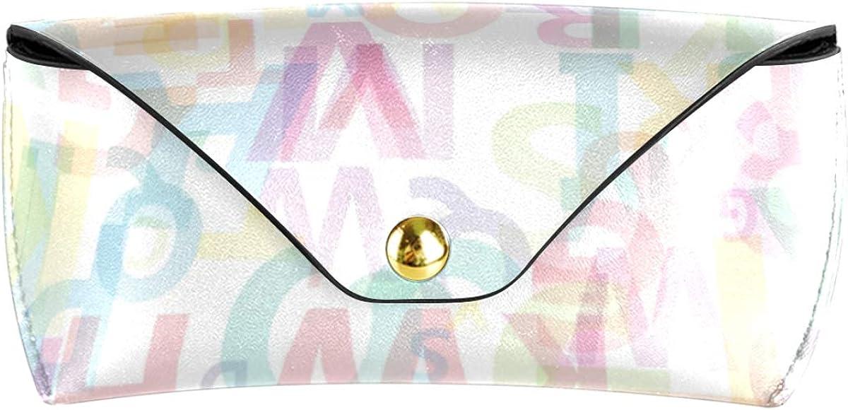 Goggles Bag Holder Rainbow Alphabet Sunglasses Case Eyeglasses Pouch PU Leather Portable Multiuse