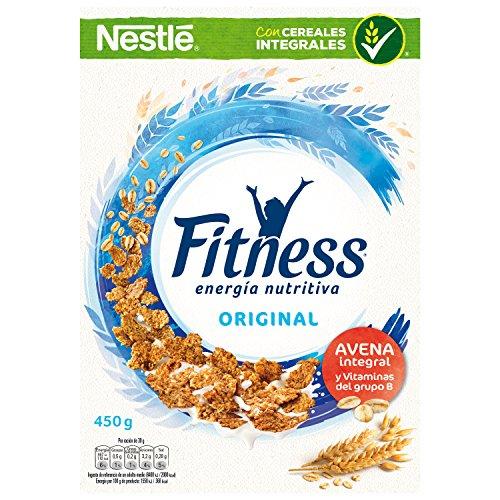 Cereales Nestlé Fitness Original Copos de trigo integral, arroz y avena...