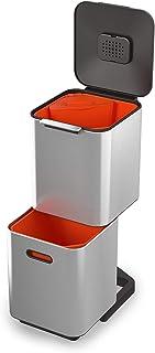 Joseph Joseph - Totem Compact unité de Séparation des Déchets et de Recyclage - 40 litres - Acier Inoxydable
