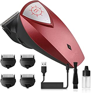 Men's Hair Cutting Clipper Self-Haircut Beard Trimmer Men Short Hair Electric USB Rechargeable Waterproof 360-degree rotat...