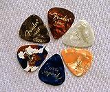 Fender Shape Classic Heavy Celluloid Picks, 5 Pack, Heavy, multi colour plectrum, guitar