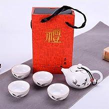 Ceramiczny dzbanek Tetradowy kubki pomysły na prezenty na herbatę prezent firmy biznesowe Gouge zestaw do herbaty (kolor: ...