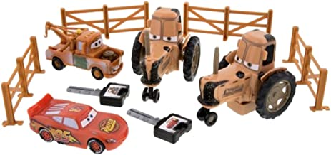 lightning mcqueen and mater tractor tipping
