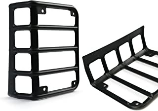 Xprite Matte Black Light Guard Covers For Rear Taillights for 2007-2018 Jeep Wrangler JK Unlimited (Tail Light)