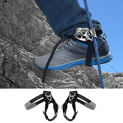 Bluelover Alpinisme en Plein Air Escalade Pied Gauche Corde Ascendeur Riser Équipement Dispositif Outil