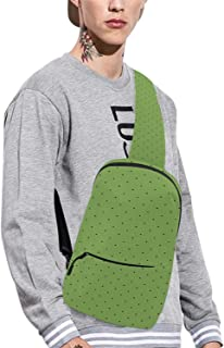 Green Personality Chest Bag,for Airport,7.48