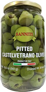 Sanniti Pitted Castelvetrano Olives - 19 Ounce Jar