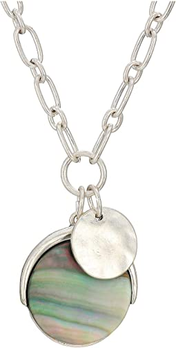 Disk Charm Necklace 18""