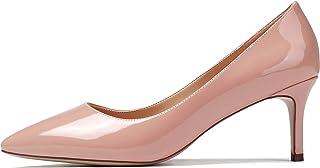 Women's Pointed Toe Mid Heel Classic Pumps Slip On...
