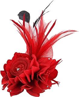 Flower Fascinator Hair Clip Wedding Accessory Birdal Dress Brooch Pin for Women