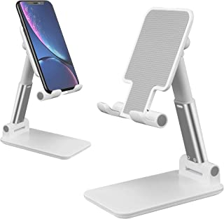 generic Foldable Cell Phone Stand, [2021 Updated] Angle & Height Adjustable Desk Phone Holder with Stable Anti-Slip Design...