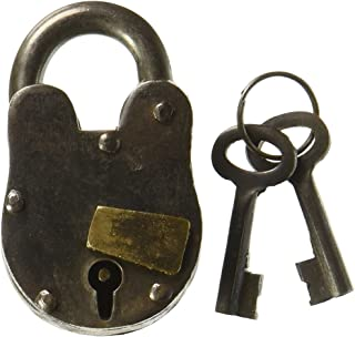 Cast Iron Lock with 2 keys Antique replica with working mechanism 1