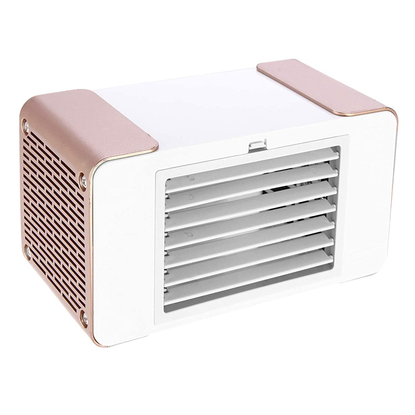 Slider 5V 5W USB Portable Mini LED Air Conditioner Equipment Air Cooler Fan Summer Cooling Machine(Iron Grey)