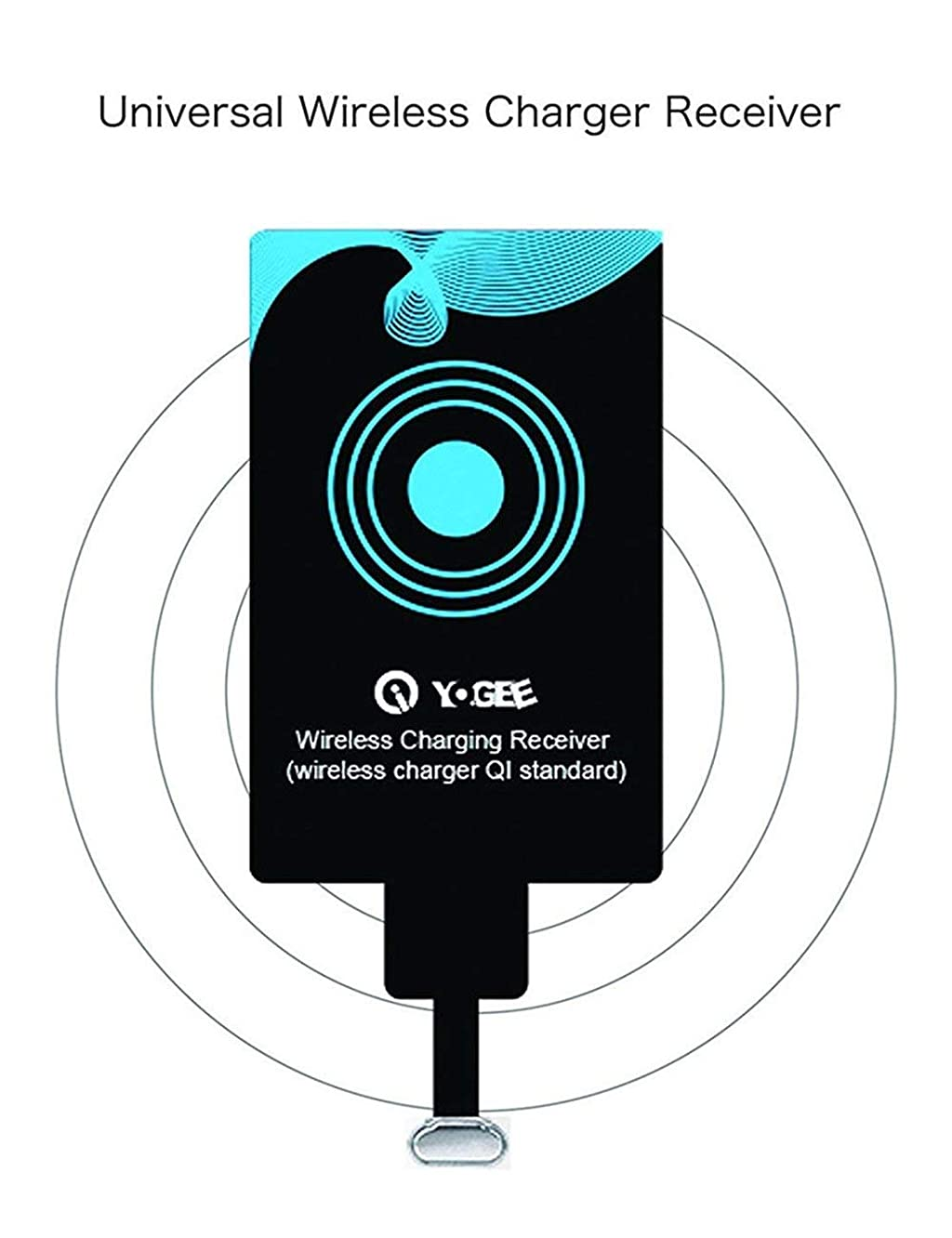 Esing Type-C Qi Wireless Charging Receiver Universal Qi Charger Film Patch Module Compatible for All Type-C Mobile Phone