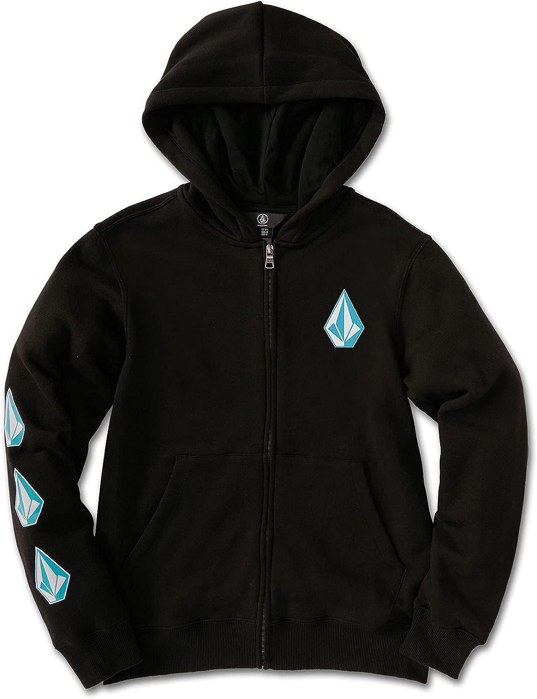 Volcom Iconic Stone Hooded Zip Fleece Sweatshirt (Big Boys & Little Boys Sizes)