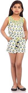 Biba Big Girls' Modal Straight Round Neck Printed Dress
