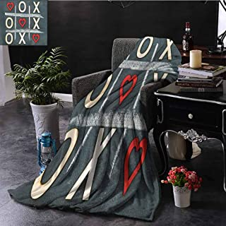 GGACEN Faux Fur Throw Blanket Vintage Style Blackboard with Hugs and Kisses Chalk Love Valentines Concept Super Soft Faux Fur Plush Decorative Blanket 50