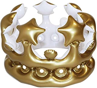 Haobase Inflatable Adult Queen Crown Fancy Dress Hen Party Decorations Toy