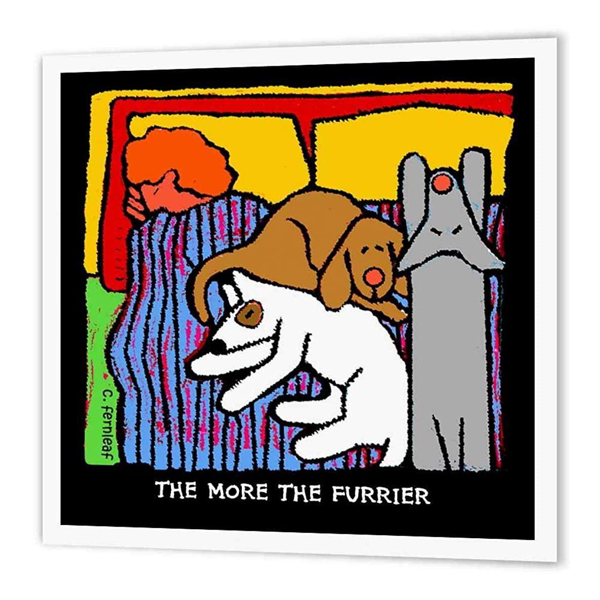 3dRose ht_36691_3 Dog Bed, Cartoon Dogs, Dogs, Dog, Funny Dogs, Puppies. Pets-Iron on Heat Transfer Paper for White Material, 10 by 10-Inch