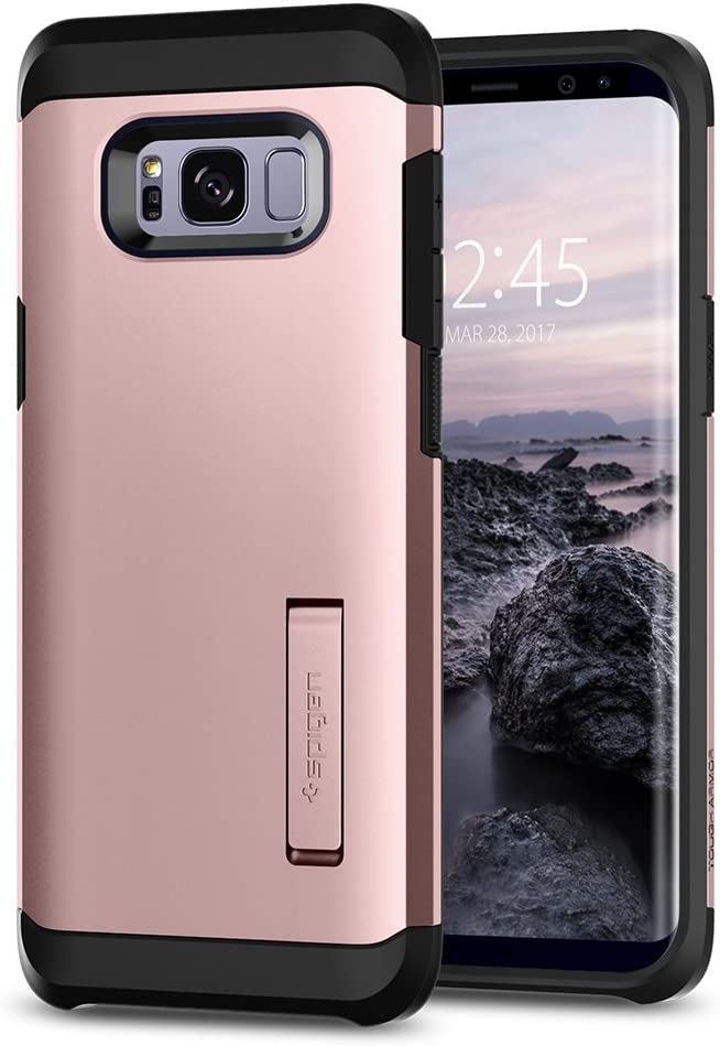 Spigen Tough Armor Designed for Samsung Galaxy S8 Case (2017) - Rose Gold