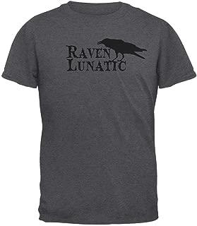 Animal World Halloween Raven Lunatic Dark Heather Adult T-Shirt