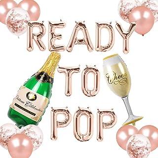 Ready to Pop Balloons Banner Confetti Balloons Baby Shower Decor Boy Girl Gender Reveal Pregnancy Announcement Newborn Par...