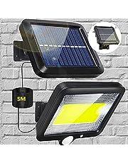 Zonnelampen voor buiten, met bewegingsmelder, 100 leds, tuinverlichting, inductie, wandlamp voor het menselijk lichaam, met 3 verlichtingsmodi, waterdicht, voor tuinschuurtjes in de open lucht