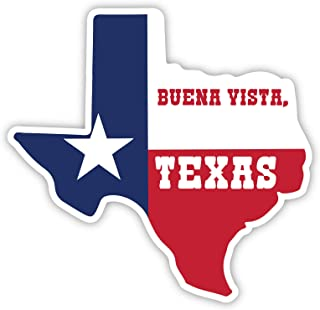 R and R Imports Buena Vista Texas Souvenir Vinyl Decal Sticker (Small- 2 Inch)