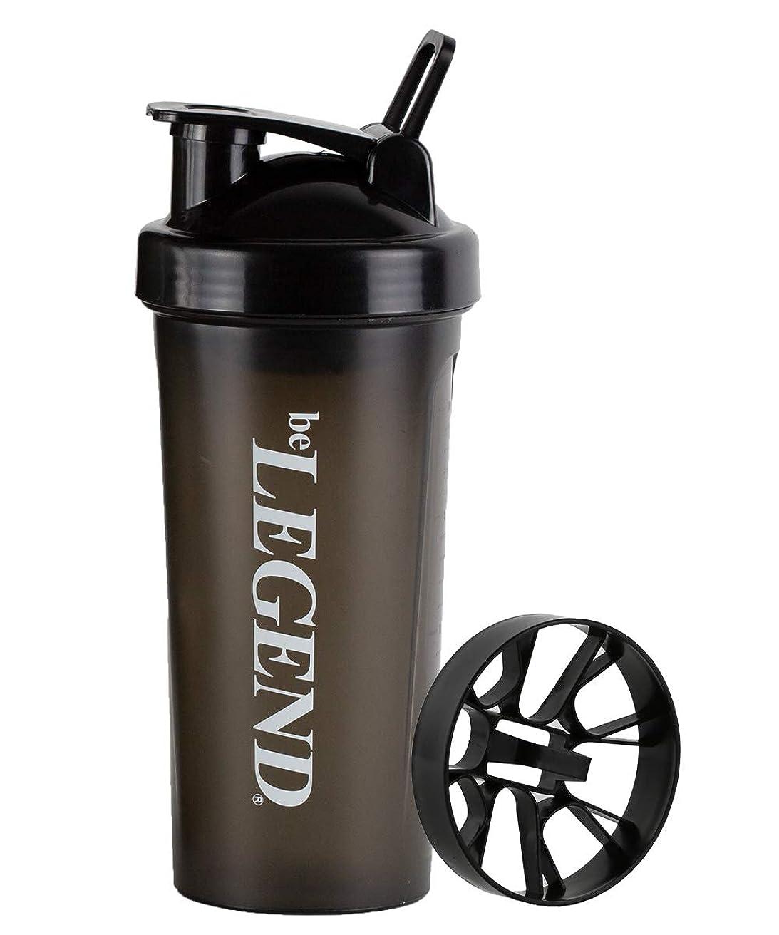指導する誘導ビタミン(シェイクネット付)ビーレジェンド シェーカーボトル ブラック 600ml