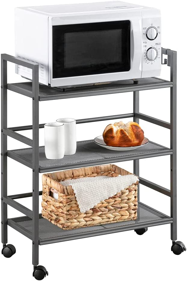 Henf 3 Shelf New sales Max 83% OFF Kitchen Carts Metal Organizer Cart Rolling