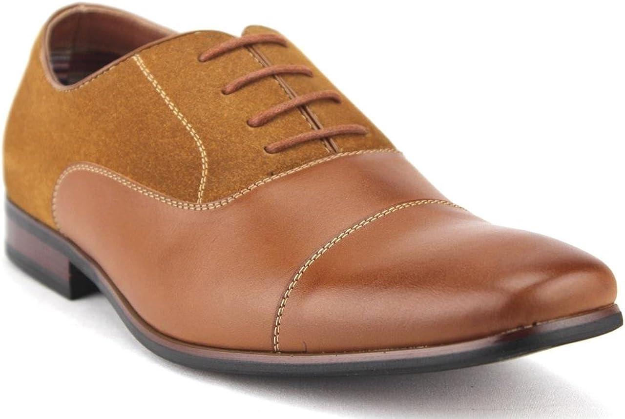 Ferro Aldo New Men's Cap Toe Suede Leather Shoes Lace Up 19506