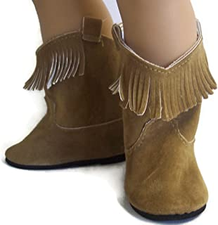 18 Inch Doll Boots Tan Fringe Boots Shoes Made for 18