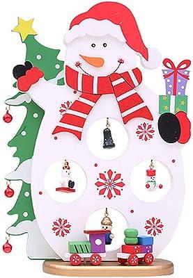 6f7a05f789cd7 Kofun Christmas Wooden Tree Santa Claus Snowman Table Decoration Ornament  Home Desktop Snowman