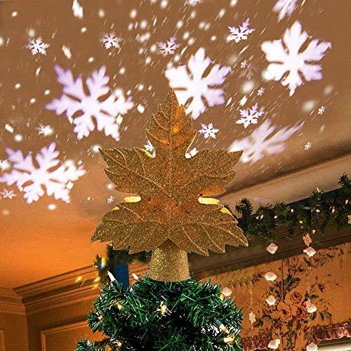 Luz decorativa para árbol de Navidad con proyector de copo de nieve...