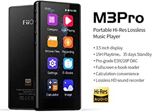 """$79 » FiiO M3 Pro MP3 Player, High Resolution and 3.5"""" Full Touchscreen HiFi Lossless Sound Player with Voice Recorder, E-Book,Supports up to 2TB,Black"""