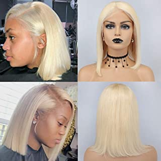 Qualified 180% Density 613 Blonde Ombre Bob Wigs Brazilian Silky Straight Human Hair Lace Front Wig For Black Woman Riya Remy Hair Human Hair Lace Wigs