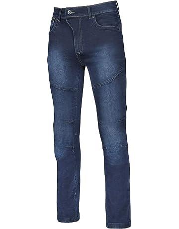 YOUCAI Moto Equitazione Jeans con 4 Armatura per Donne Biker Pantaloni Protettivi da Equitazione per Il Motociclismo,41,Blu