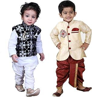 c5aea9ade3 Looks United Boys Festive & Party Kurta, Waistcoat, Dhoti and Pyjama Set  (Set